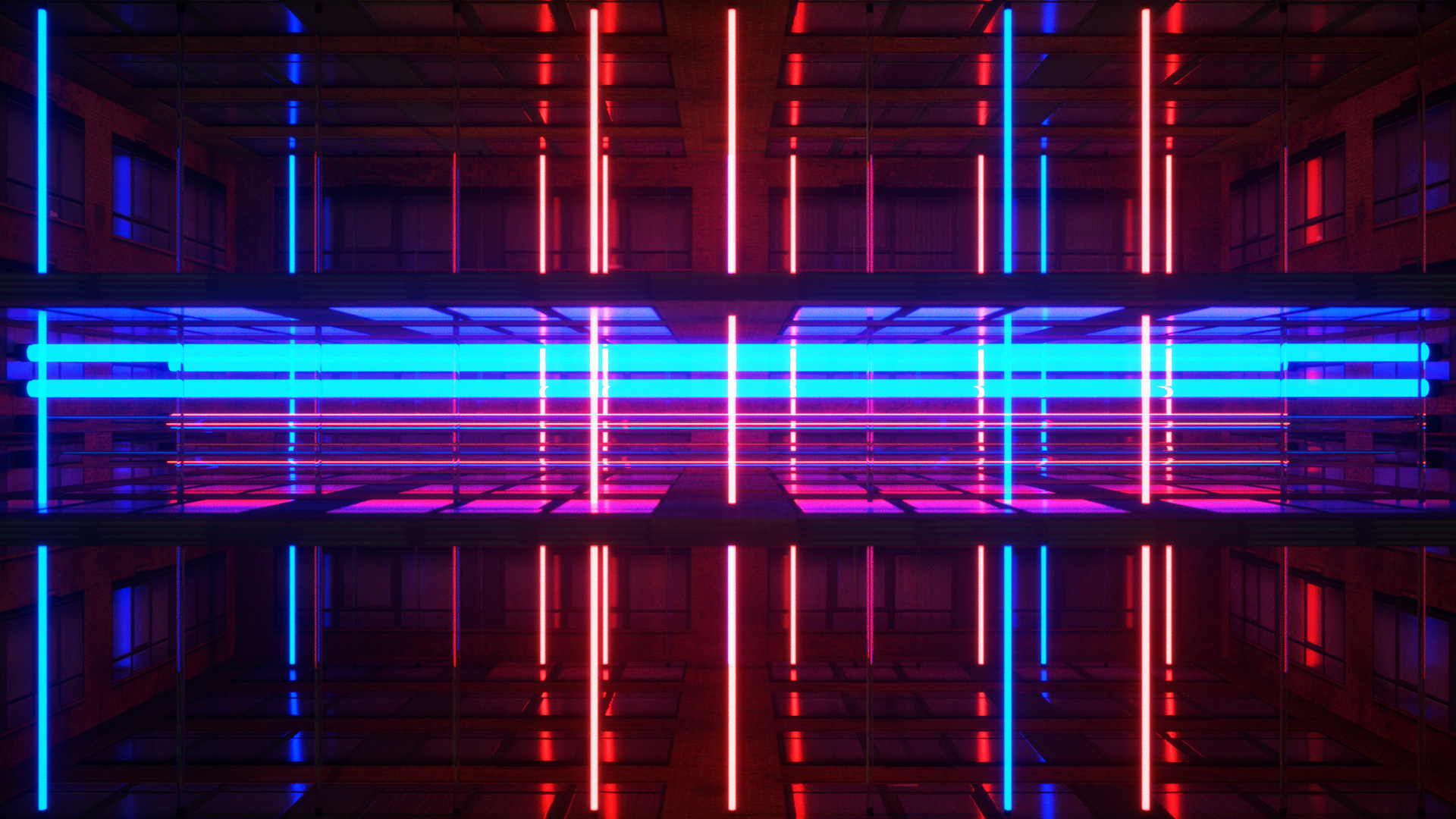 Neon Rooms Pack / 20 VJ Loops / Ghosteam