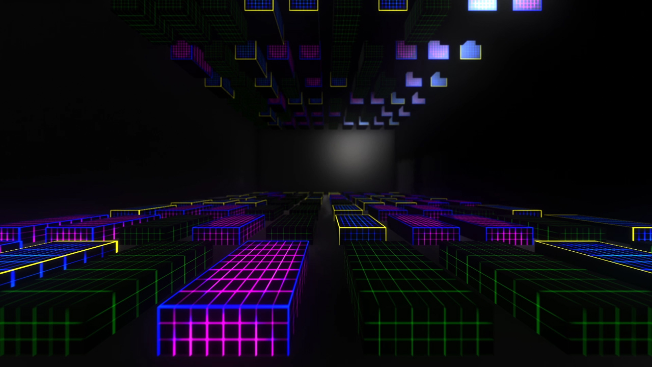 3D LED Cubes VJ Loops Pack - Ghosteam