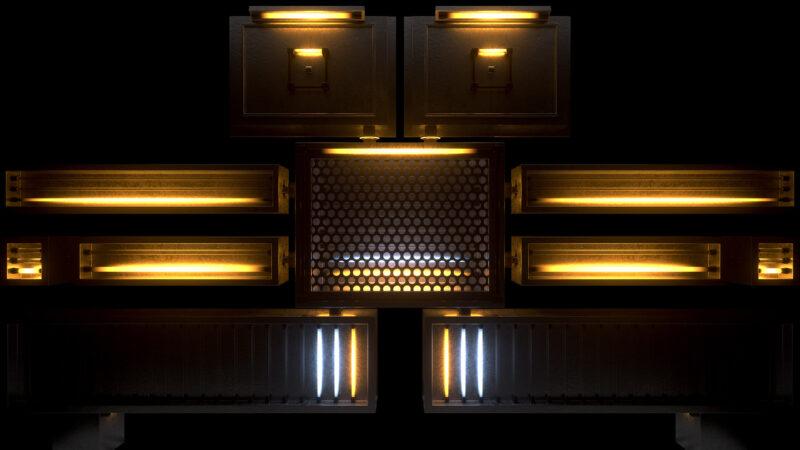 Neon Robot VJ Loop - Neon Rooms 2 by Ghosteam