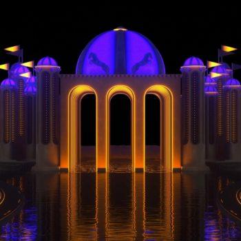 Dream Palace on River with Bridges VJ Loop
