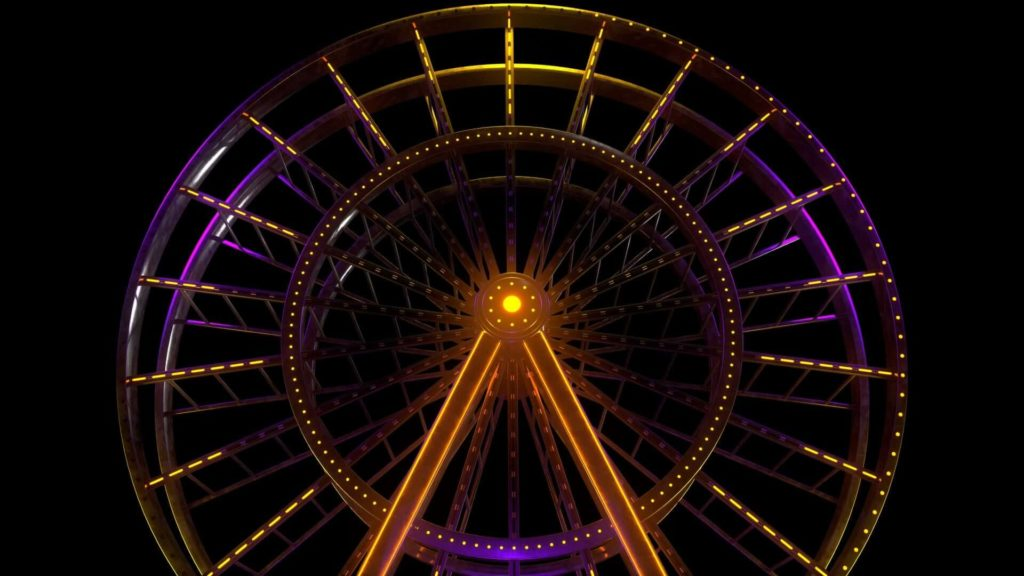 Ferris Wheel Theme Park Luna Park VJ Pack by Ghosteam