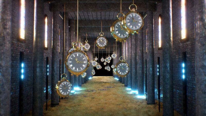 3D Clocks in a Castle