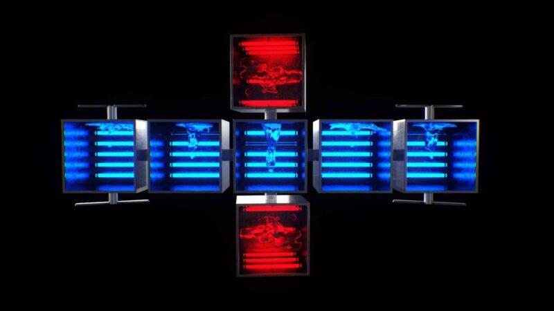 Neon Shatter Cubes - Shatter VJ Loops Pack