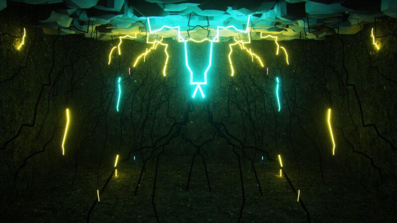 Lightning Bolts Light Rooms VJ Loops Pack